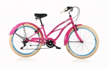 Leader Lazy 26 Zoll Cruiser Damen Rosa