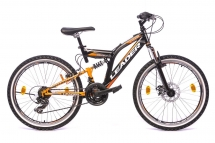 Leader Chicago 24 Zoll MTB/Jugendrad Schwarz/Orange (2017)