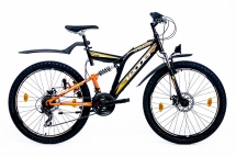 B-Ware Leader Chicago 26 Zoll ATB Schwarz/Orange (2017) 46cm