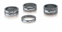 "XLC A-Head Spacer-Set AS-A02 3 x 5, 1 x 10 1 x 15mm 1 1/8"" titanfarb"