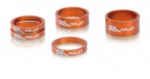 "XLC A-Head Spacer-Set AS-A02 3 x 5, 1 x 10, 1 x 15mm, 1 1/8"" orange"
