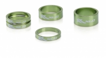 "XLC A-Head Spacer-Set AS-A02 3 x 5, 1 x 10, 1 x 15, 1 1/8"" limegreen"