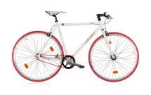 Leader FF1 28 Zoll /Fixie Weiß/Rot (2017)