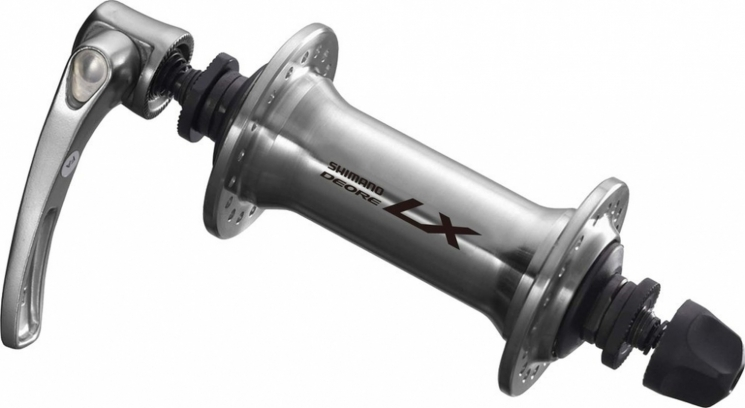 VR-Nabe Shimano Deore LX HB-T 670 100mm, 32 Loch, silber, SNSP