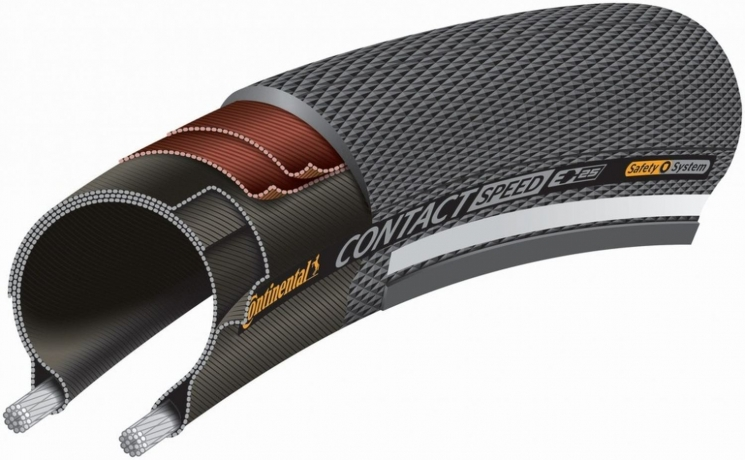 "Continental Contact Speed 26"" Drahtreifen Schwarz Reflex"