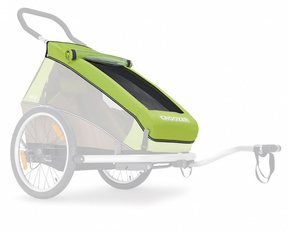 Verdeck 2in1 für Kinderanhänger Croozer f.Croozer Kid 1 meadow green ab 2016