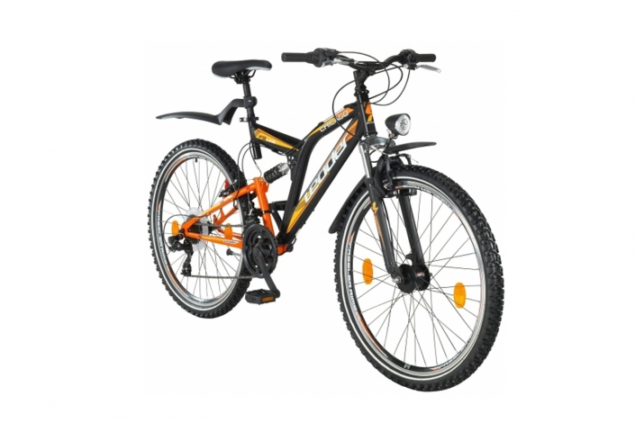 B-Ware Mountainbike 26 Zoll Chicago Schwarz/ Orange 46cm