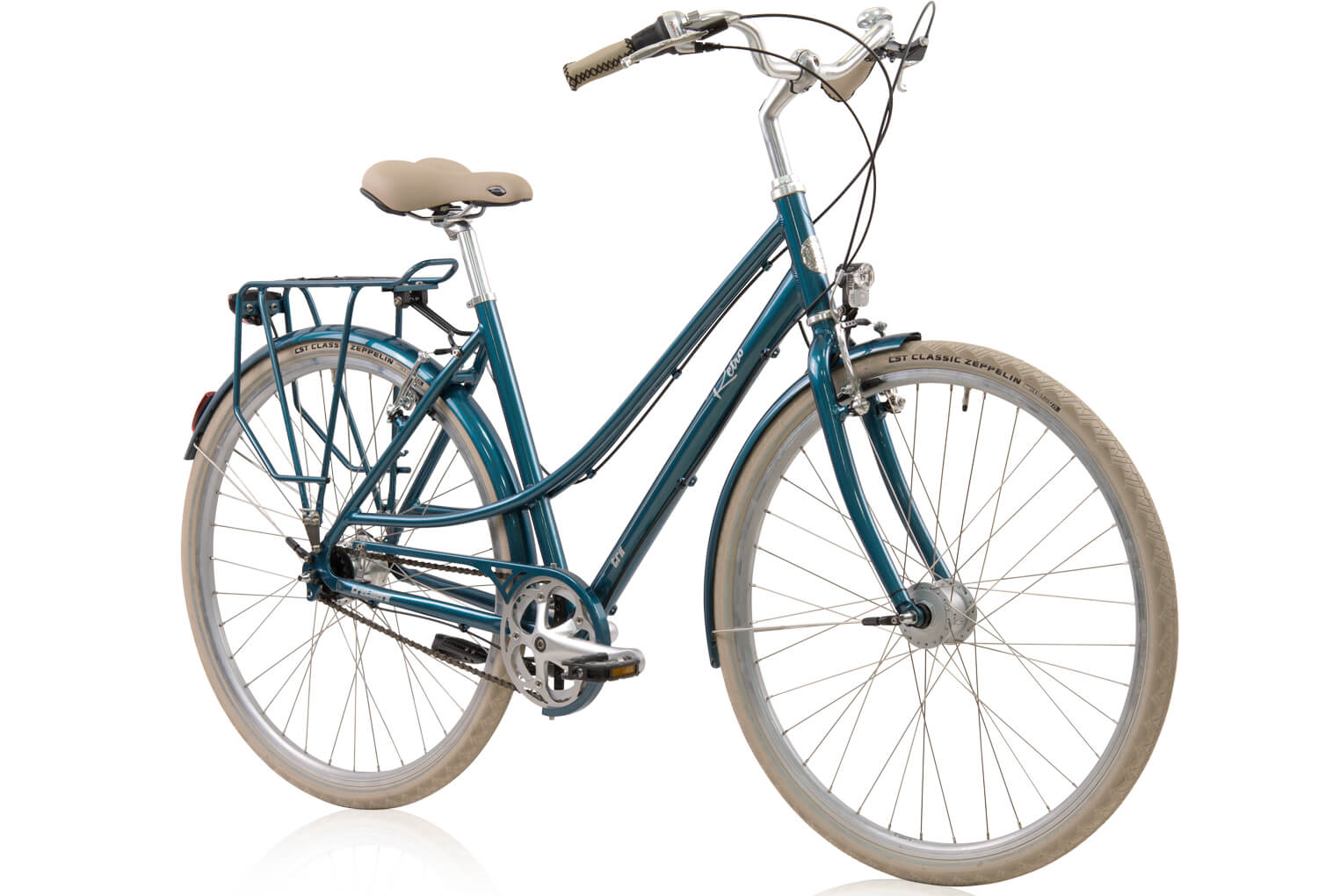 tretwerk retro citybike premium damen blau citybikes. Black Bedroom Furniture Sets. Home Design Ideas